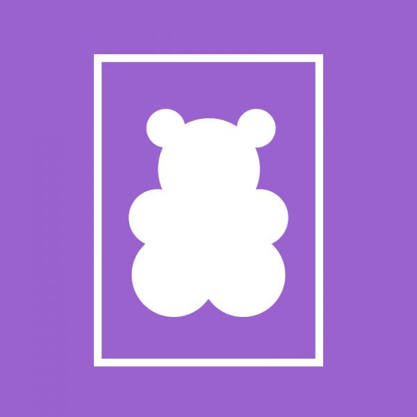 Fruchtsaft-Bärchen mit Logo