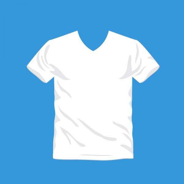T-Shirt Druck mit V Ausschnitt