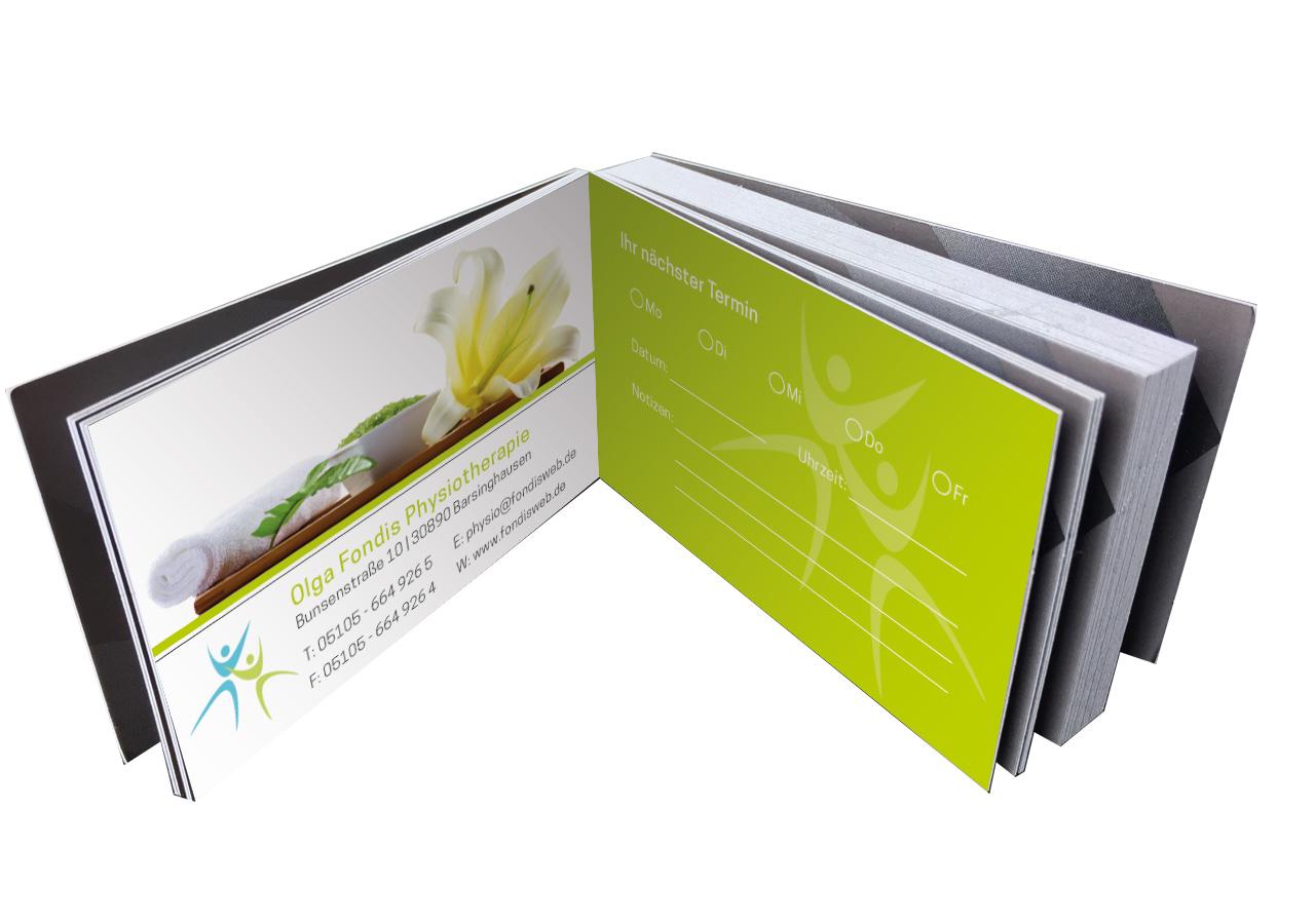 Abreiß Visitenkarten 55mm X 85mm 300gr